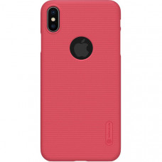 Чехол накладка для Apple iPhone XS Max Nillkin Super Frosted Shield с отверстием Красный
