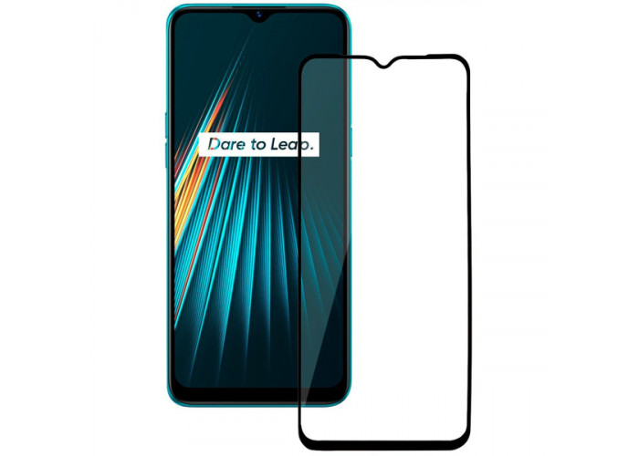 Защитное стекло для Realme C3 Glass Pro Full Glue Черное