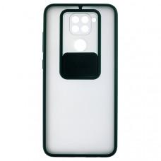 Чехол накладка для Xiaomi Redmi Note 9 Cover Slide Зеленый
