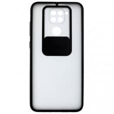 Чехол накладка для Xiaomi Redmi Note 9 Cover Slide Черный