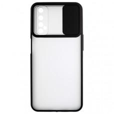 Чехол накладка для Realme 7 Cover Slide Черный