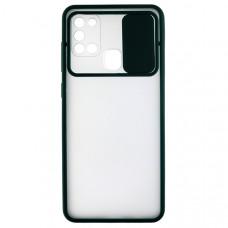 Чехол накладка для Samsung Galaxy A21s Cover Slide Зеленый