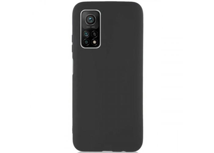 Силиконовый чехол для Xiaomi Mi 10T TPU 1мм Черный матовый